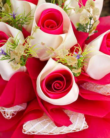 Artificial rose flowers bouquet