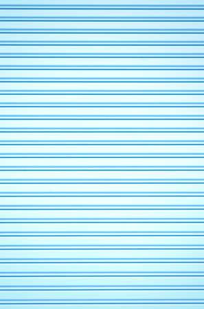 backgrounds blue: Corrugated metal sheet slide door background Stock Photo