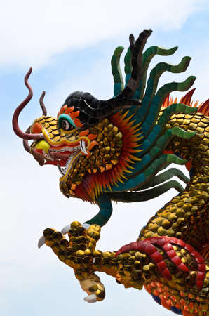 naga china: chinese dragon stucco
