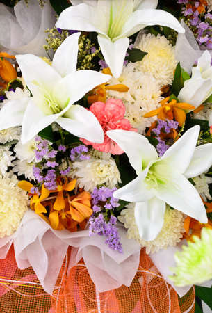 flowers bouquet: Bunch of colorful flowers boequet Stock Photo