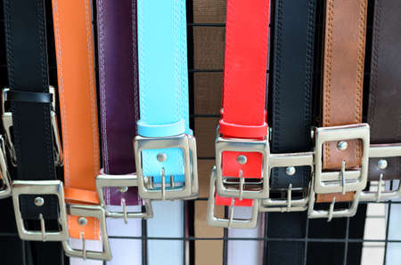 trouser: Colorful trouser belts Stock Photo