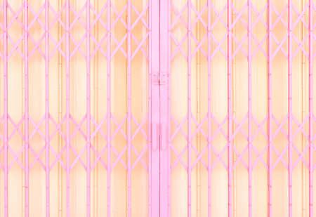 secured door: Yellow and pink metal sliding grille door & Secured Door Stock Photos \u0026 Pictures. Royalty Free Secured Door ... Pezcame.Com