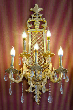 candelabrum: classic style sconce on a wall Stock Photo