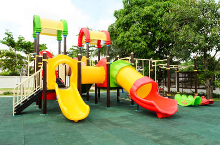 colorful childrens playground in park