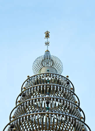 stainless: Stainless Steel Pagoda at  Stainless Steel Temple, Hatyai ,Thailand