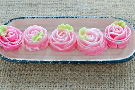gulab: Rose flower sweet (ALUA GULAB )Thai dessert