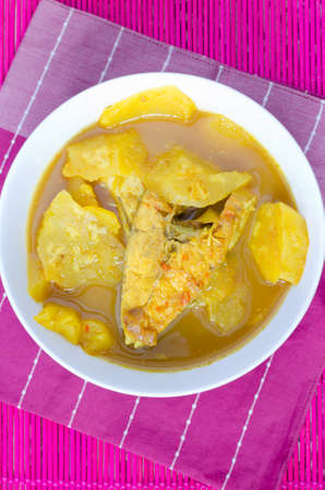 Yellow curry fish with pineapple,Thai southern Style Food