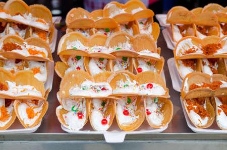 Khanom Beaung Thai  or Thai Crispy Pancake