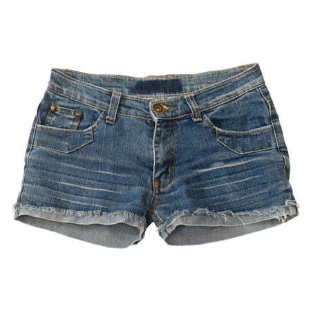 short jean isolated on white background with working path Stock Photo