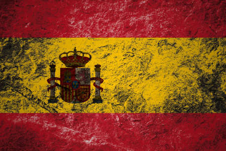 spaniard: Grunge flag of Spain on stone background