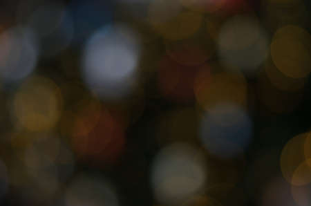 Abstract background of colorful defocus bokeh lights Stock Photo