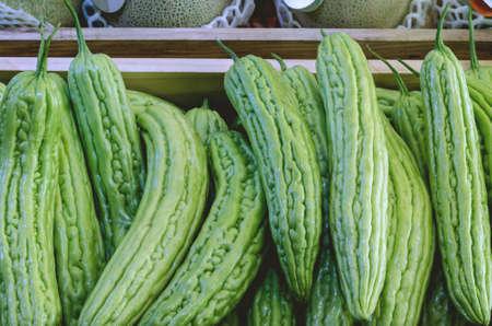 Fresh Organic Bitter melon in Market