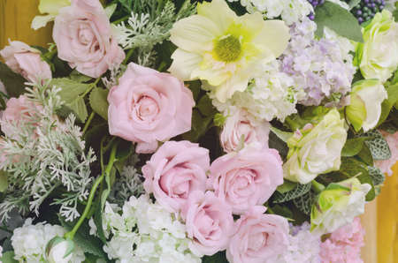 Beautiful sweet color artificial flower background