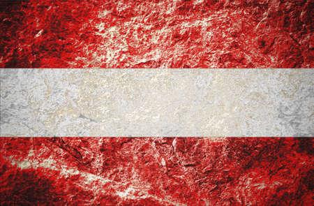 Grunge Austria flag on stone background