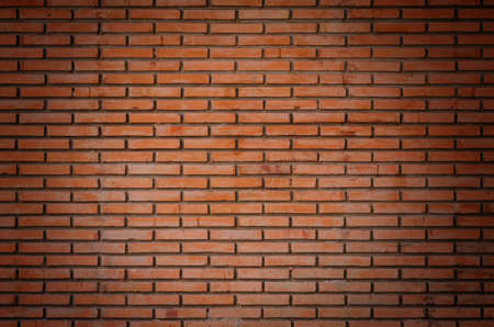 Red brown old brick wall texture background Banco de Imagens