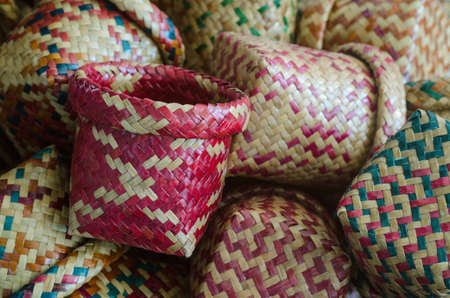 Hand woven basketry product from Krajood, a kind of sea grass Standard-Bild