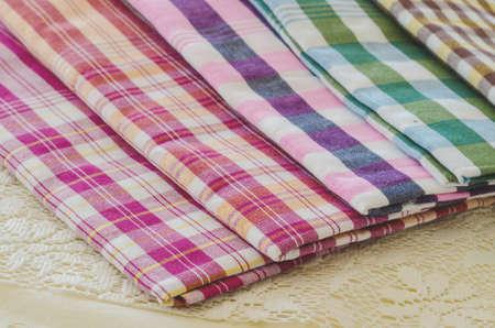 Pile of  loincloth, traditional handmade Thai craft cloth for Thai male