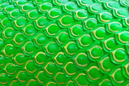 Bright green Naga scale pattern background