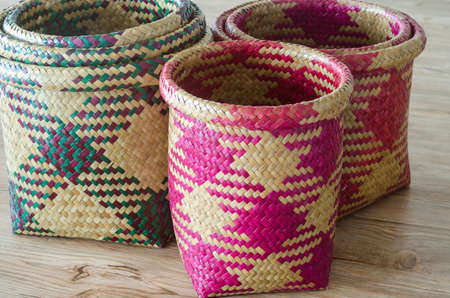 Hand woven basketry product from Krajood