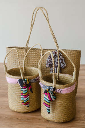 Hand woven Bags from Krajood Standard-Bild