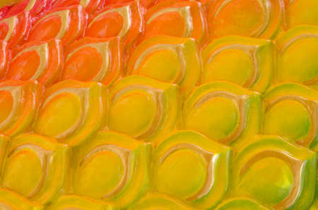 Colorful Naga scale skin pattern background Standard-Bild