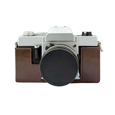 Vintage camera on a white background with working path Standard-Bild