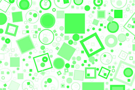 Abstract colored ellipse & square box shape pattern. Good for web page, wallpaper, graphic design, catalog, texture or background. Vector graphic. Ilustrace