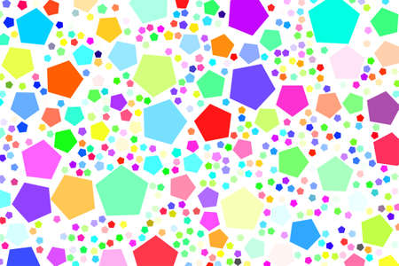 Abstract colored pentagon shape pattern.   Vector graphic. Illustration