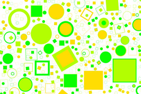Abstract colored ellipse & square box shape pattern. Good for web page, wallpaper, graphic design, catalog, texture or background. Vector graphic. Illustration