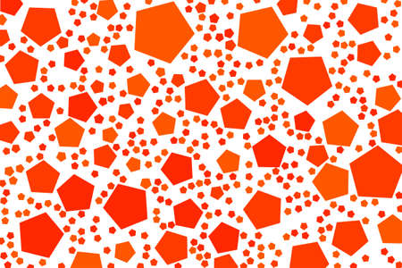 Abstract colored pentagon shape pattern. Good for web page, wallpaper, graphic design, catalog, texture or background. Vector graphic. Vectores