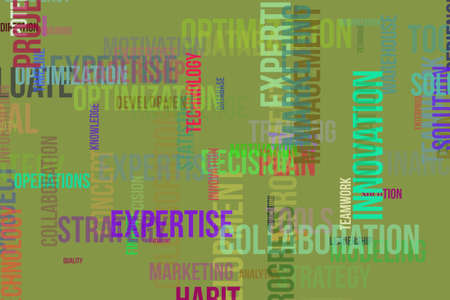 Business word cloud, for design wallpaper, texture or background. Stock Photo