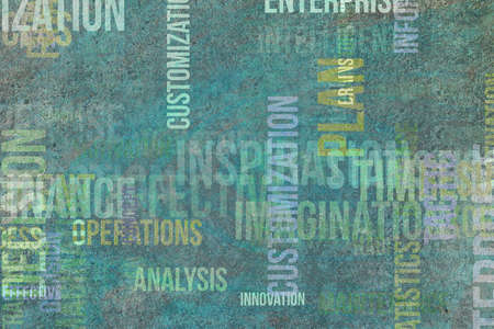 Business word cloud, for design wallpaper, texture or background., grunge & rough Stock Photo