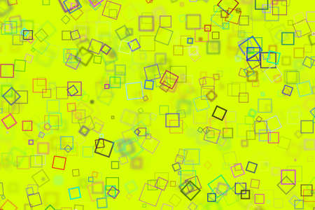 Random square shape, digital generative art for design texture & background Stock Photo