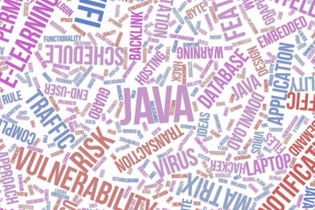 Java, IT, information technology conceptual word cloud for for design wallpaper, texture or background