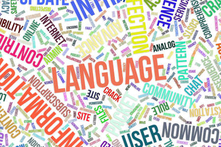 Language, IT, information technology conceptual word cloud for for design wallpaper, texture or background