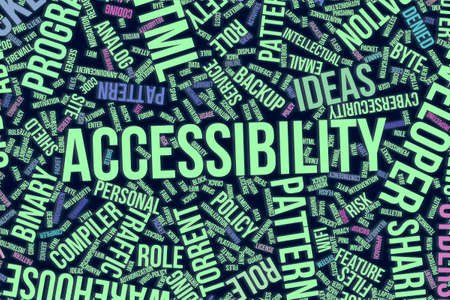 Accessibility, IT, information technology conceptual word cloud for for design wallpaper, texture or background