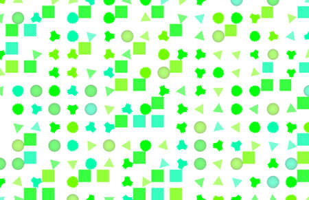 Mixed colored rectangle, triangle, circle, ellipse & star shape 3D pattern for design wallpaper, texture or background