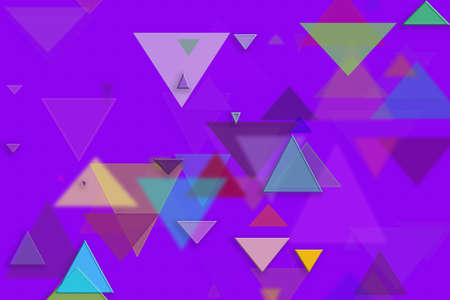Abstract embossed & random triangle shape, digital generative art for design texture & background