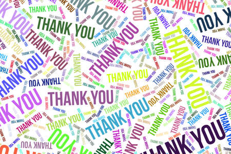 Thank You, word cloud for web page, graphic design, catalog, wallpaper or background. Reklamní fotografie
