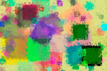 Random square shape, digital generative art for web page, graphic design, catalog, textile or texture printing & background