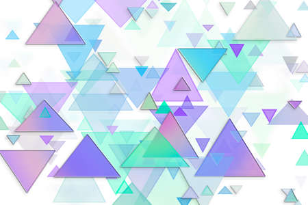 Abstract embossed & random triangle shape, digital generative art for web page, graphic design, catalog, textile or texture printing & background Reklamní fotografie