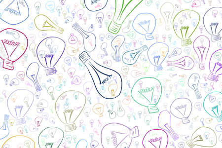 Abstract illustrations of light bulbs, conceptual pattern. Good for design background. Idea conceptual. Vector graphic.