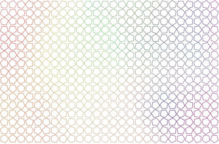 Background abstract pentagon pattern for design. Style of mosaic or tile. Vector illustration graphic.