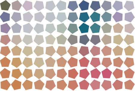 Modern geometrical pentagon background pattern abstract. Style of mosaic or tile. Vector illustration graphic.