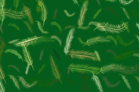 Abstract feather illustrations background. Cartoon style vector graphic. Çizim