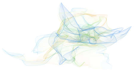 Abstract illustrations of smoky line art, conceptual. Good for design background. Stock Photo
