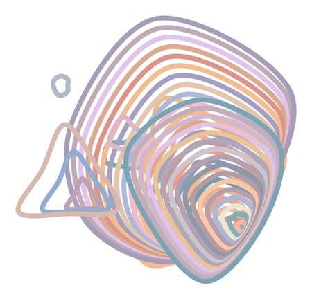 Líneas de ruta abstractas patrón geométrico, colorido y artístico para diseño gráfico, catálogo, impresión textil o textura y fondo. Gráfico de ilustración vectorial.