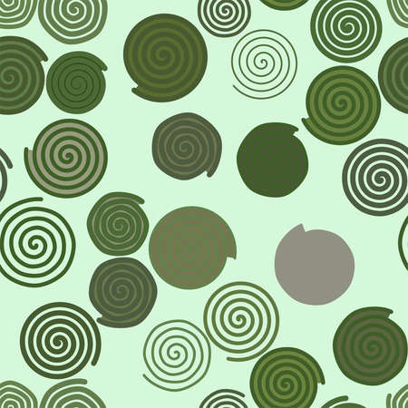 Seamless geometric Conceptual background twirl circle lines pattern for design. Vector illustration graphic. Illustration