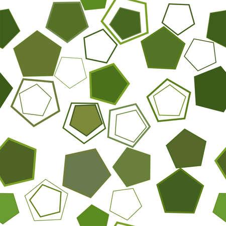 Modèle de pentagone géométrique conceptuel abstrait sans soudure. Bon pour la page Web, la conception graphique, le catalogue, la texture ou l'arrière-plan. Graphique d'illustration vectorielle.