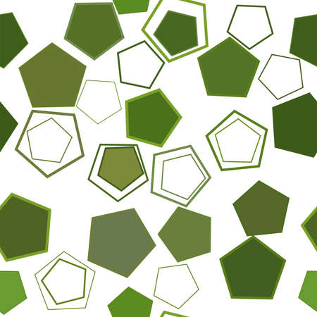 Seamless abstract conceptual geometric pentagon pattern. Good for web page, graphic design, catalog, texture or background. Vector illustration graphic.